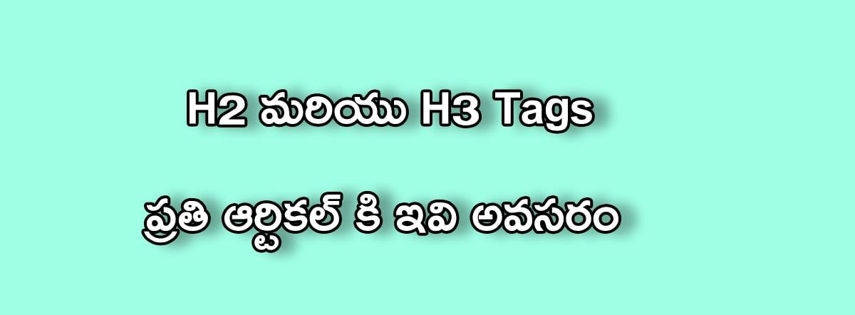 h2 h3 tags in telugu